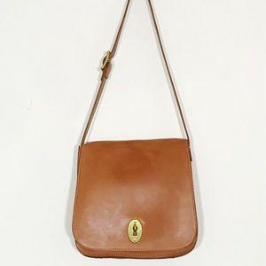 Fossil 100% Leather Keyhole  Shoulder Bag